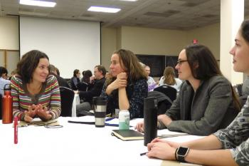 Group discussion during one coproduction breakout. Photo: Toni Klemm
